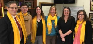 Photo of Senator Sarah Gelser with members of The Arc