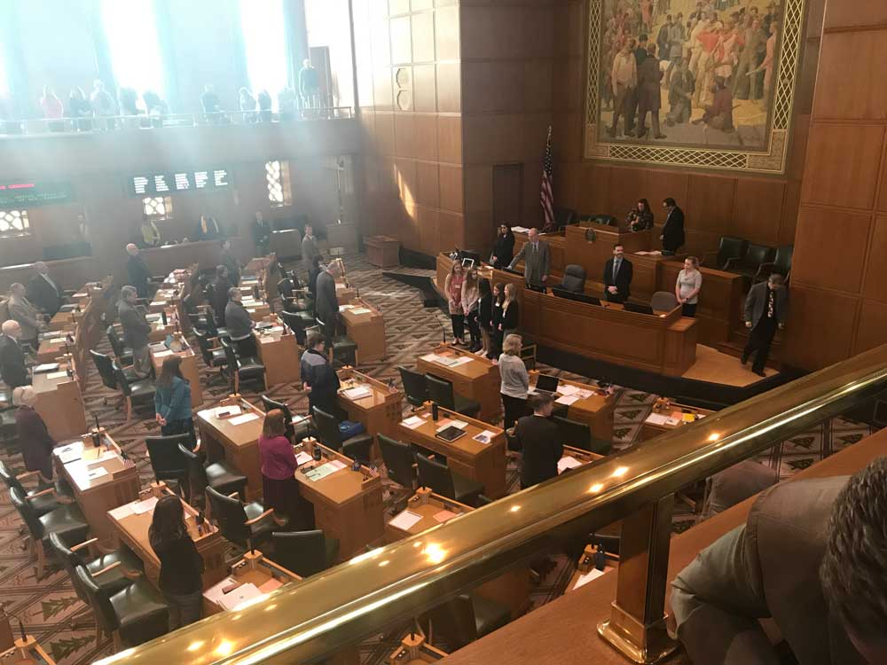 Image of the Oregon Legislature in session